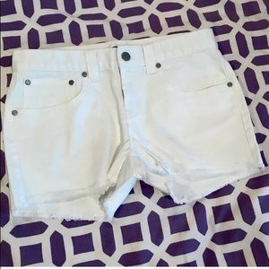 White denim shorts - NWOT